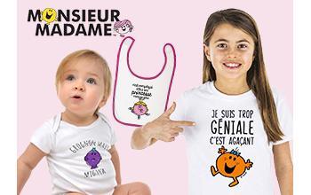 Vente privée MONSIEUR MADAME sur Bébé Boutik