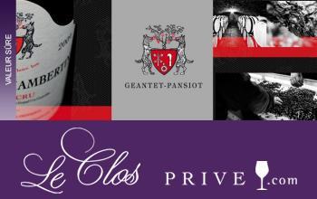 Vente privée DOMAINE GEANTET-PANSIOT sur LeClos-Privé