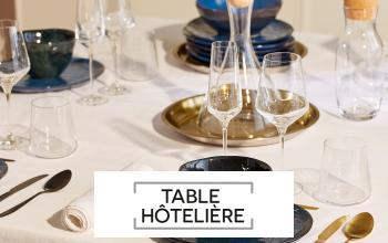 TABLE HOTELIERE à bas prix chez SHOWROOMPRIVÉ