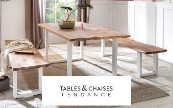 TABLES ET CHAISES TENDANCE à super prix sur SHOWROOMPRIVÉ