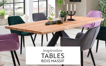 INSPIRATION TABLES BOIS MASSIF à super prix chez SHOWROOMPRIVÉ