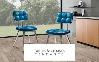 TABLES ET CHAISES TENDANCE en vente privée sur SHOWROOMPRIVÉ