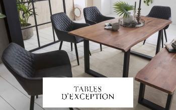TABLES D EXCEPTION en vente privée chez SHOWROOMPRIVÉ