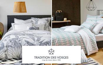 Tradition des Vosges Drap Plat Cl/ématite Percale 80fils 43x35 68//68